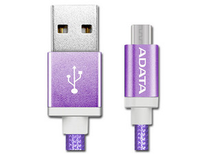 Cable ADATA USB 2.0 macho/MicroUSB macho de 1m. Color Morado.