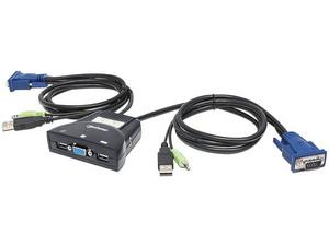 Switch KVM de 2 puertos USB con soporte de audio.