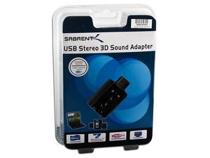 Adaptador de Sonido USB 2.0 Sabrent con salida de sonido estéreo y entrada de Micrófono (3.5mm)