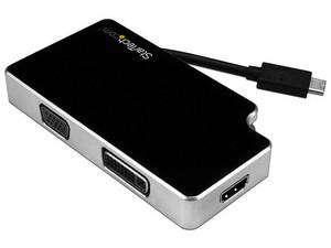 Adaptador de Viajes A/V 3-en-1 USB-C a VGA, DVI o HDMI - 4K