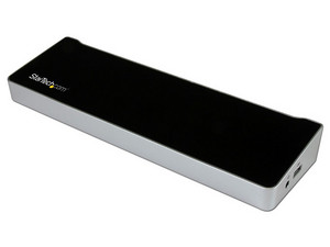 Replicador de puertos universal USB 3.0 triple para computadora portátil.