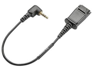 Cable QD con jack 2.5mm Plantronics 65287-01 para conexión de un teléfono Cisco.