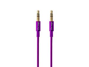 Cable estéreo Vorago 3.5mm (M-M), 1m. Color Morado.