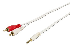 3.5mm Mini Audio-2 RCA (Red/White) Cable 6ft