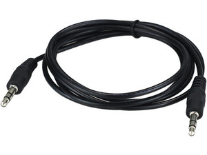 Cable de Audio Xtech estéreo de 3.5 mm (M-M), 90 cm. Color Negro.
