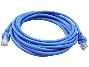 Cable de red GHIA RJ-45 (M-M) Cat5e, UTP de 2m. Color azul.
