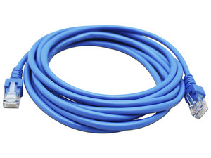 Cable de red GHIA RJ-45 (M-M) Cat5e, UTP de 3m. Color azul.
