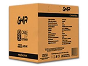 Bobina de cable GHIA GCB-041 de 305m, UTP Cat5e, 24 AWG.