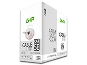 Bobina de Cable Cat5e (UTP) Caja con 100m, 24 AWG. Color Gris.