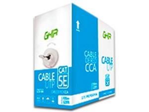 Bobina de cable GHIA GCB-046 de 100m, UTP Cat5e, 24 AWG. Color Azul.