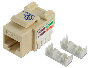 Jack de impacto Intellinet, Cat5e, UTP. Color Marfil.