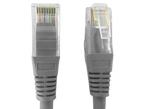 Cable de Red TVC P5E1UG, Cat5e UTP, 1m. Color Gris.