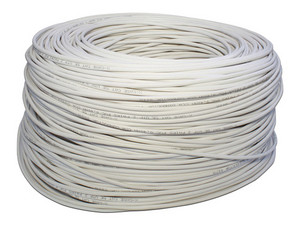 Bobina de cable X-case Cat5e (UTP) 305 metros, Color Blanco.
