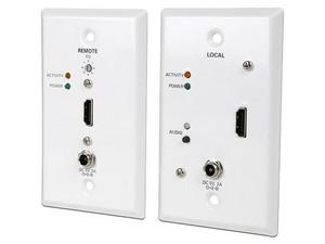 Kit Extensor Tripp-Lite para Video HDMI a través de Cat5e/Cat6, hasta 61m, montaje en pared. Color Blanco.