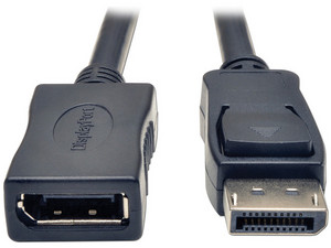 Cable de Video TrippLite DisplayPort (M) a DisplayPort (H), 1.83 m.