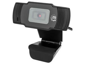 Cámara Web Manhattan, USB-A, Full HD 1080p, Micrófono Integrado, 30 fps, Color Negro.