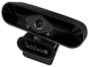 Cámara Web TechZone TZCAMPC02, Full HD 1080p, micrófono, USB.