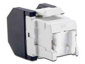 Conector 3M RJ45 Cat6 con cubre polvo abatible, 3 posiciones autoponchable. Color Blanco.