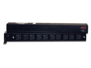 """PDU APC Barra multicontactos de 10 salidas para montaje en 1U de rack de 19\"""", Enchufes Tipo NEMA 5-20R."""