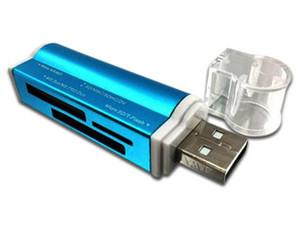 Lector de tarjetas Brobotix 180420A, USB 2.0, Color Azul Metálico.
