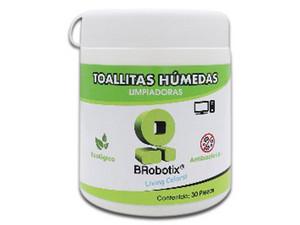 Toallitas húmedas antiestáticas Brobotix para equipos electrónicos y pantallas.