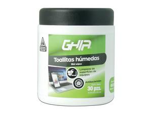 Toallas húmedas limpiadoras GHIA GLS-005 para uso externo.