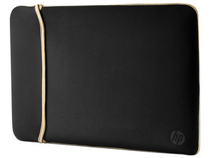 Funda HP Sleeve reversible color Negro y Dorado, para laptop de hasta 14