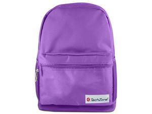 "Mochila TechZone Basic TZ17LBP01 para laptop de hasta 15.6\"". Color Morado."