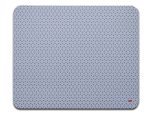 Mouse Pad 3M MS200PS, Diseño Estampado, Antiderrapente. Color Gris.