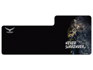 Mouse Pad Naceb NA-0943 XL Gamer Never Surrender de 380mm x 870mm.