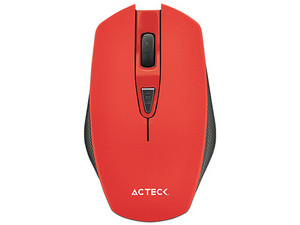 Mouse Óptico Inalámbrico Acteck M120 Lux, USB. Color Rojo.