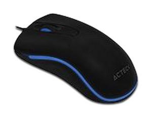 Mouse Electrous X X300, hasta 1,000 dpi, 2 botones e iluminación de Led Azul, USB 2.0.