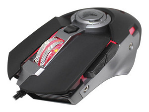 Mouse Gamer Eagle Warrior Hive, hasta 3,200dpi, Led Personalizable, USB, Color Negro.