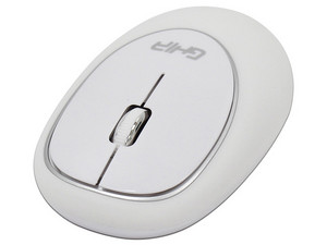 Mouse inalámbrico Ergonómico GHIA, 1,000dpi, USB. Color Blanco.