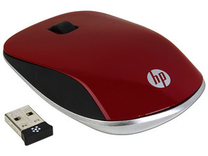 Mouse Óptico Inalámbrico HP Z4000, USB, Color Rojo.