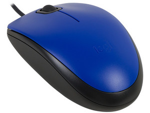 Mouse Logitech m110 Óptico, USB. Color Azul.