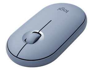 Mouse Óptico Inalámbrico Logitech Pebble M350, USB. Color Gris.