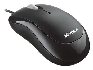 Mouse Microsoft Basic Optical, Color Negro, USB.
