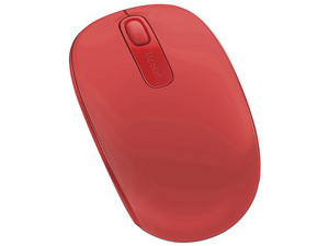 Mouse Inalámbrico Microsoft Mobile 1850. Color Rojo