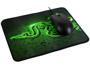 Kit Mouse Razer Abyssus USB y Mouse Pad Goliathus Speed.