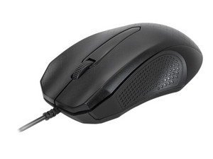 Mouse óptico Xtech de hasta 1,000 dpi, USB. Color Negro.