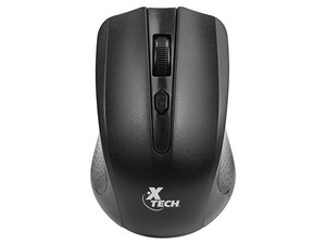 Mouse Óptico Inalámbrico XTECH Wireless, USB, Colo Negro.