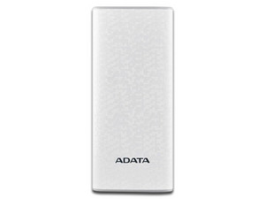 Batería Portátil recargable y linterna LED ADATA P1000 Powerbank de 10,000 mAh. Color Blanco.