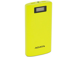 Batería Portátil recargable y linterna LED ADATA AP20000D Power Bank de 20,000 mAh para Smartphones y Tablets. Color Amarillo.