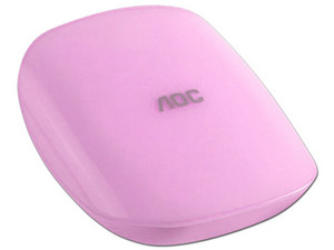 Batería Portátil recargable AOC Candy Powerbank de 5,200 mAh. Color Rosa