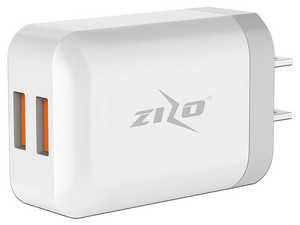 Cargador Zizo de pared 1 puerto USB. Color Blanco.