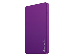 Batería Portátil recargable Mophie Powerstation mini de 3000 mAh, USB 2.0 para Smartphones y Tablets. Color morado.