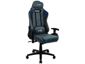 Silla Gaming Aerocool Duke Steel Blue. Color Gris/Azul.