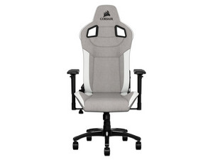 Silla Gaming Corsair T3 Rush reclinable. Gris/Blanco.