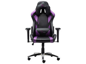 Silla Gamer Digital Design Master RGB, Soporta hasta 120Kg, Color Negro con Morado.